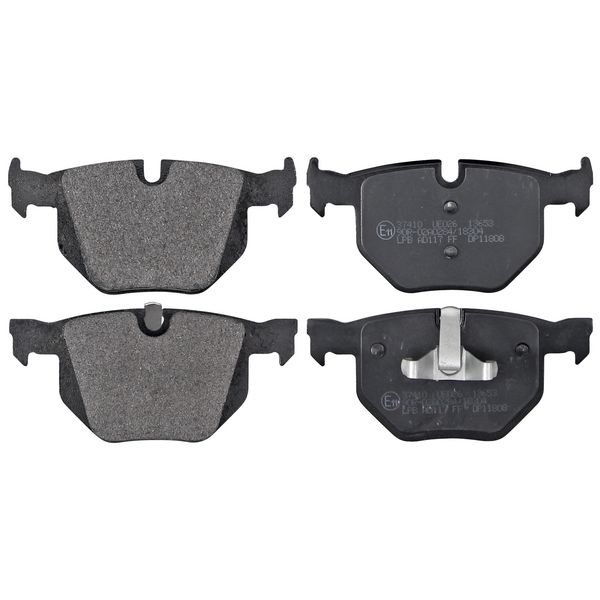 Remblokkenset achterzijde originele kwaliteit BMW 3 (E90) 330 d