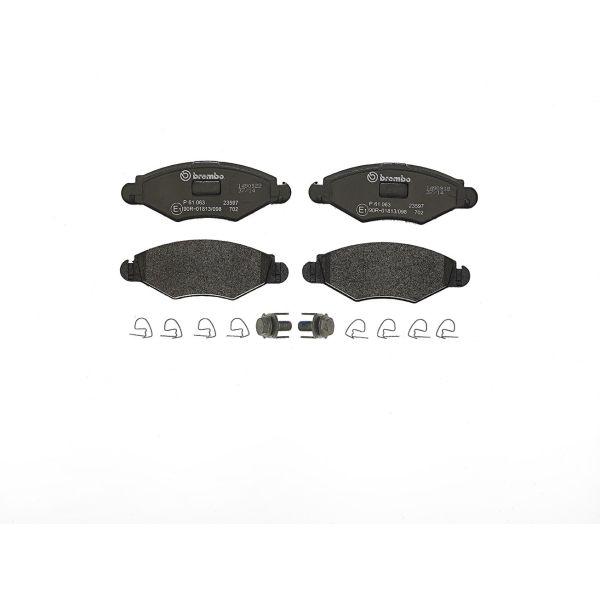 Remblokkenset voorzijde Brembo premium PEUGEOT 206 Hatchback 1.4 i