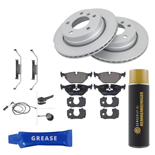 Voordeelpakket remschijven & remblokken achterzijde BMW 3 (E46) 316 i