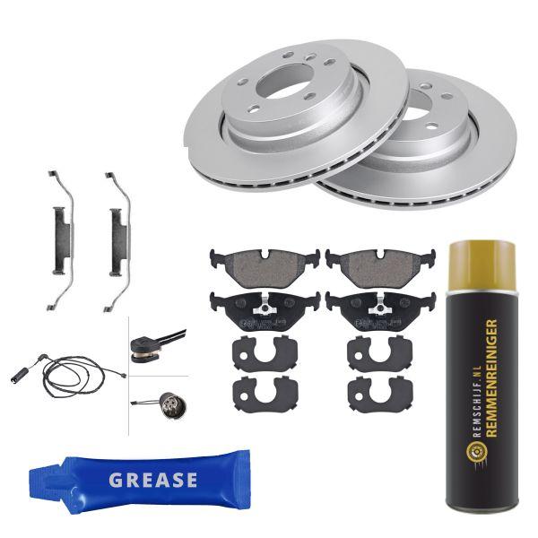 Voordeelpakket remschijven & remblokken achterzijde BMW 3 (E46) 320 i