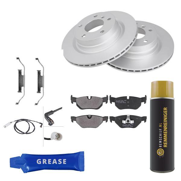 Voordeelpakket remschijven & remblokken achterzijde BMW 3 (E90) 318 i