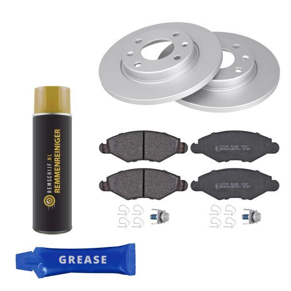 Voordeelpakket remschijven & remblokken voorzijde PEUGEOT 206 Hatchback 1.4 i