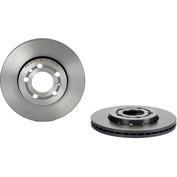 Remschijven voorzijde Brembo premium VW VOLKSWAGEN POLO (6R1, 6C1) 1.2 TDI