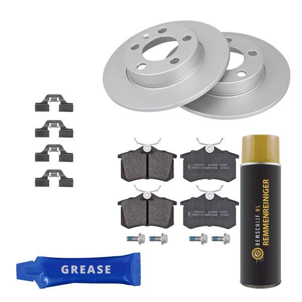 Voordeelpakket remschijven & remblokken achterzijde VW VOLKSWAGEN POLO (6R1, 6C1) 1.2 TDI