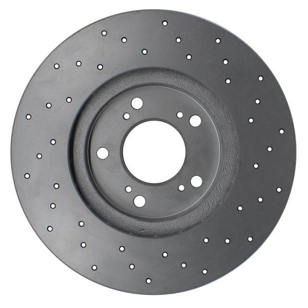 Geperforeerde remschijven voorzijde Sport kwaliteit VW VOLKSWAGEN POLO (9N_) 1.4 16V