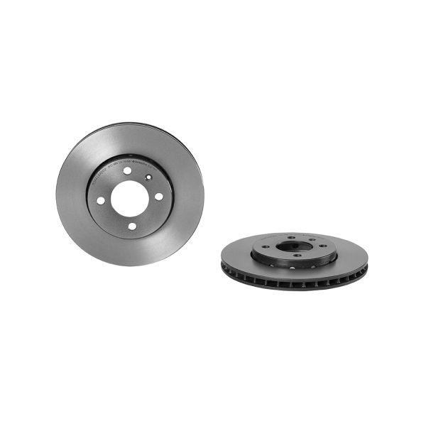 Remschijf voorzijde Brembo premium VW VOLKSWAGEN UP! (121, 122, BL1, BL2, BL3, 123) 1.0