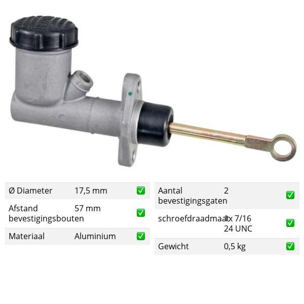 Koppelingcilinder -pedaal voorzijde JEEP CJ5 - CJ8 2.1 D