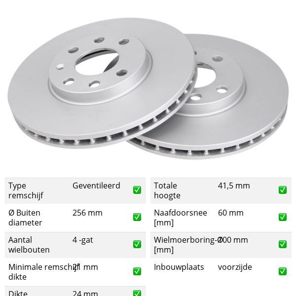 Remschijven voorzijde originele kwaliteit OPEL ASTRA G Hatchback 1.6